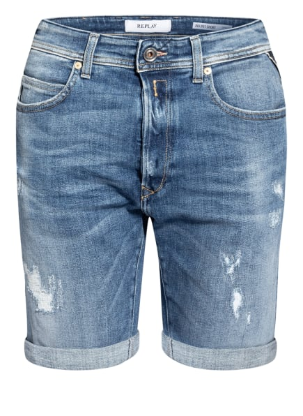 REPLAY Jeans-Shorts Tapered Fit, Farbe: 009 MEDIUM BLUE (Bild 1)