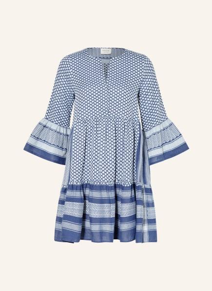 CECILIE COPENHAGEN Kleid JULIA mit 3/4-Arm, Farbe: BLAU/ HELLBLAU (Bild 1)