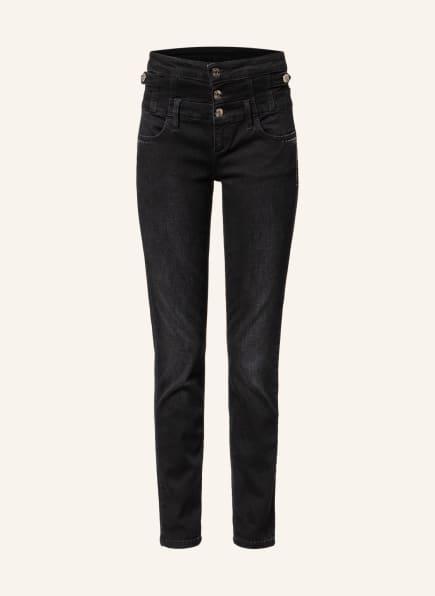 LIU JO Skinny Jeans RAMPY mit Schmucksteinbesatz, Farbe: 87204 Den.Black remarkab.w (Bild 1)