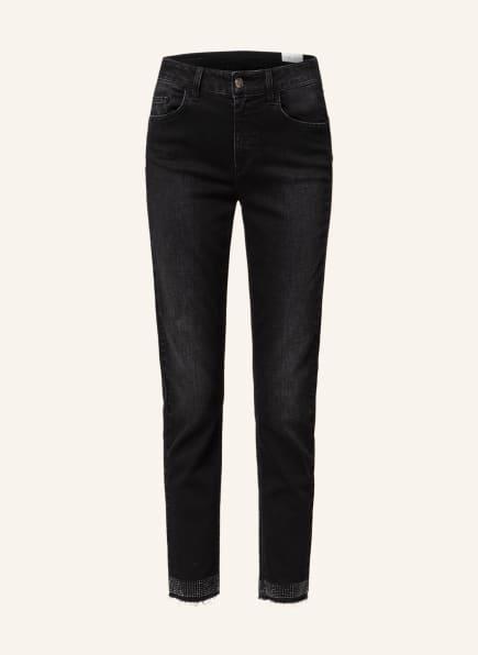 LIU JO 7/8-Jeans IDEAL mit Schmucksteinbesatz, Farbe: 87204 Den.Black remarkab.w (Bild 1)