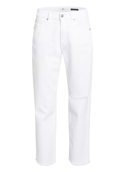 7 for all mankind Jeans THE MODERN STRAIGHT, Farbe: SIMPLY WHITE DISTRESSED MANKIND SD WHITE (Bild 1)