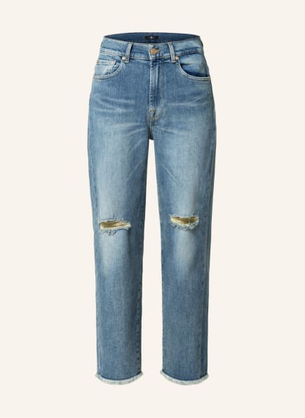 7 for all mankind 7/8-Jeans , Farbe: MOST WANTED DISTRESSED MODERN STRAIGHT MANKIND MD MID B (Bild 1)
