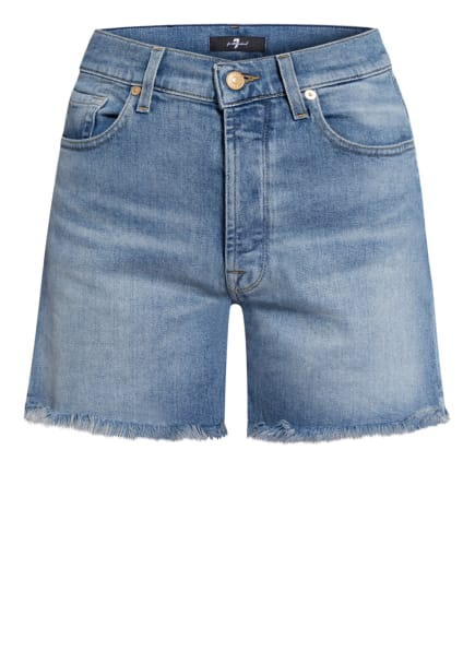 7 for all mankind Jeans-Shorts BILLIE, Farbe: MOST WANTED MANKIND MW MID BLUE (Bild 1)