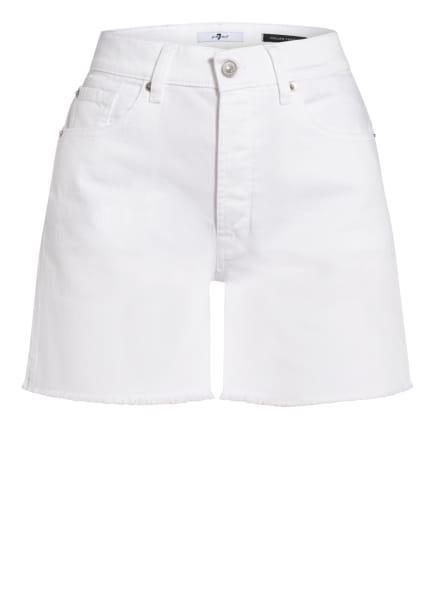 7 for all mankind Jeans-Shorts BILLIE, Farbe: RAW CUT SIDE SLIP MANKIND SW WHITE (Bild 1)