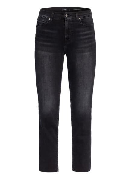 7 for all mankind Jeans THE STRAIGHT CROP, Farbe: SOHO BLACK STRAIGHT CROP KH BLACK (Bild 1)