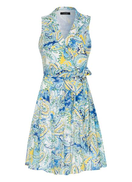 LAUREN RALPH LAUREN Kleid, Farbe: WEISS/ BLAU/ GELB (Bild 1)