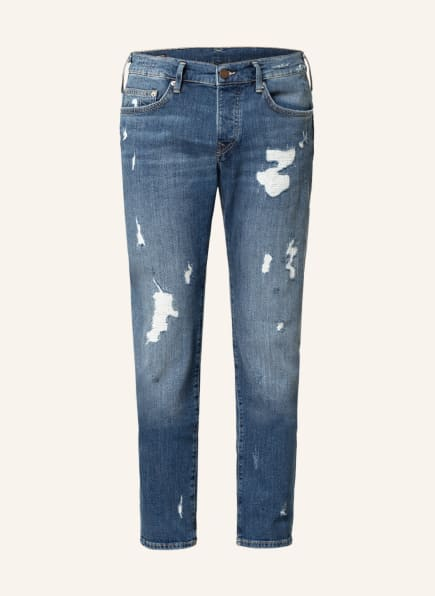 TRUE RELIGION Destroyed Jeans ROCCO Relaxed Skinny Fit, Farbe: 4646 blue (Bild 1)