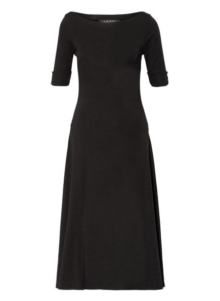 LAUREN RALPH LAUREN Jerseykleid, Farbe: SCHWARZ (Bild 1)