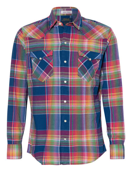 POLO RALPH LAUREN Hemd Classic Fit, Farbe: BLAU/ ROT/ GRÜN (Bild 1)