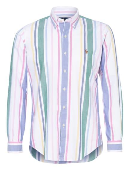 POLO RALPH LAUREN Hemd Custom Fit, Farbe: WEISS/ BLAU/ FUCHSIA (Bild 1)