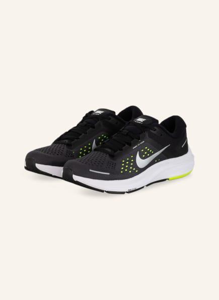 Nike Laufschuhe AIR ZOOM STRUCTURE 23, Farbe: SCHWARZ/ NEONGELB/ SILBER (Bild 1)
