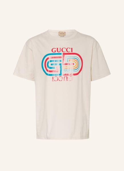 GUCCI T-Shirt, Farbe: CREME/ TÜRKIS/ ROT (Bild 1)
