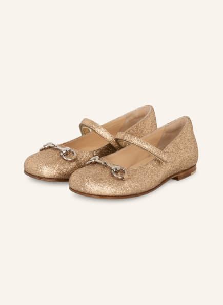 GUCCI Ballerinas, Farbe: GOLD (Bild 1)
