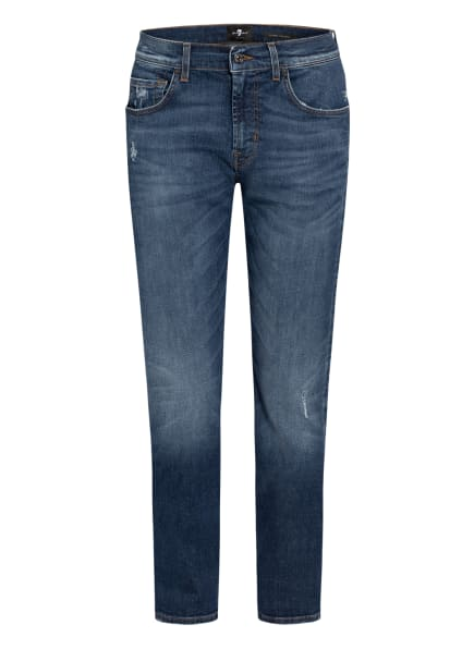 7 for all mankind Destroyed-Jeans SLIMMY Tapered Fit, Farbe: MID BLUE (Bild 1)