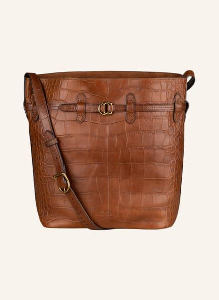 POLO RALPH LAUREN Hobo-Bag BELLPORT mit Pouch, Farbe: BRAUN (Bild 1)