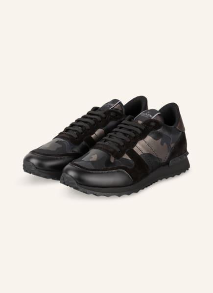 VALENTINO GARAVANI Sneaker ROCKRUNNER CAMOUFLAGE, Farbe: SCHWARZ/ DUNKELGRAU/ GRAU (Bild 1)
