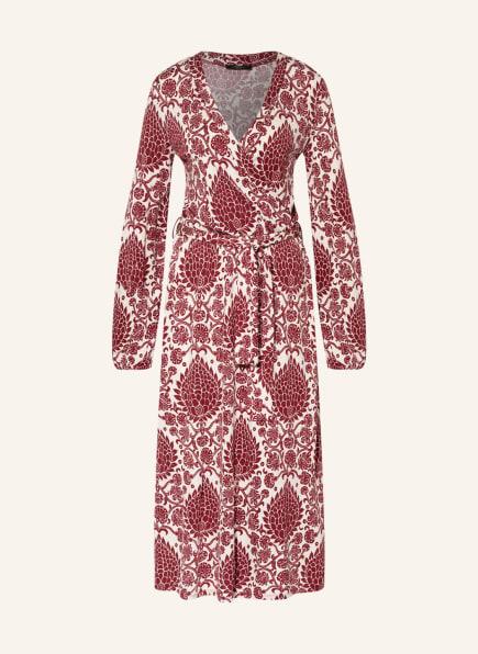 WEEKEND MaxMara Kleid SUSA in Wickeloptik , Farbe: WEISS/ DUNKELROT (Bild 1)