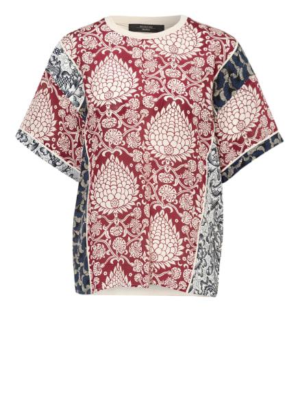 WEEKEND MaxMara Blusenshirt PARCO im Materialmix , Farbe: CREME/ DUNKELROT/ DUNKELBLAU (Bild 1)