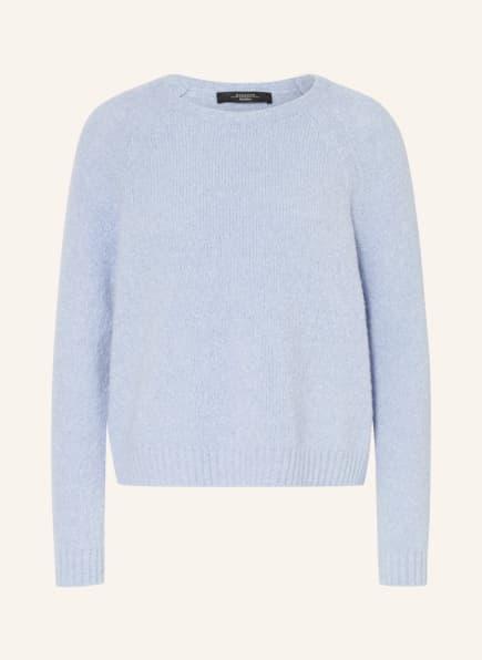 WEEKEND MaxMara Pullover GEO mit Alpaka, Farbe: HELLBLAU (Bild 1)