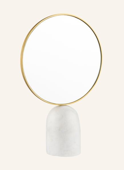 pols potten Spiegel, Farbe: WEISS/ GOLD (Bild 1)