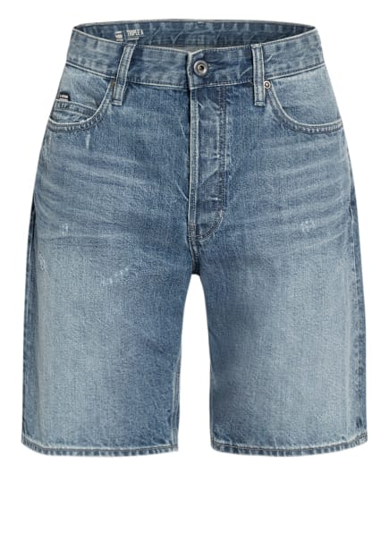 G-Star RAW Jeans-Shorts TRIPLE A Straight Fit, Farbe: C275 sun faded ice fog destroyed (Bild 1)