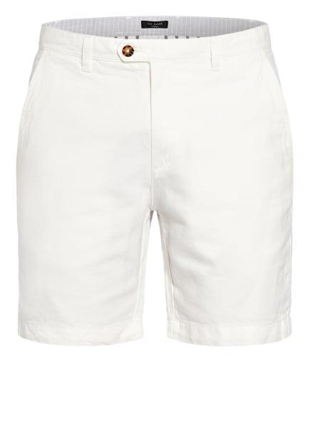 TED BAKER Shorts MASKE mit Leinen, Farbe: WEISS (Bild 1)