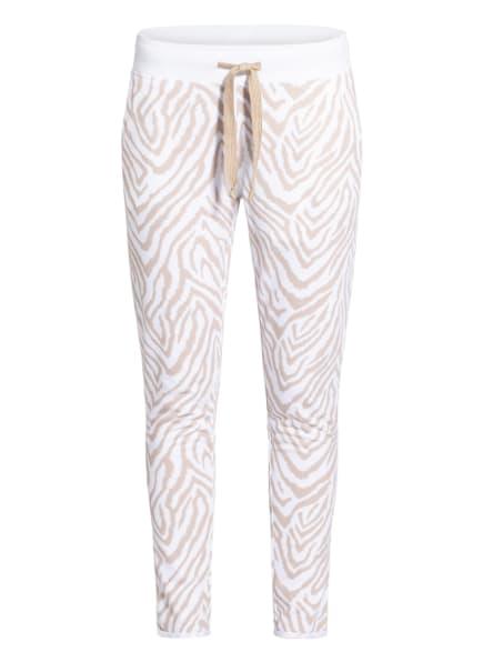 Juvia Sweatpants, Farbe: WEISS/ CAMEL (Bild 1)