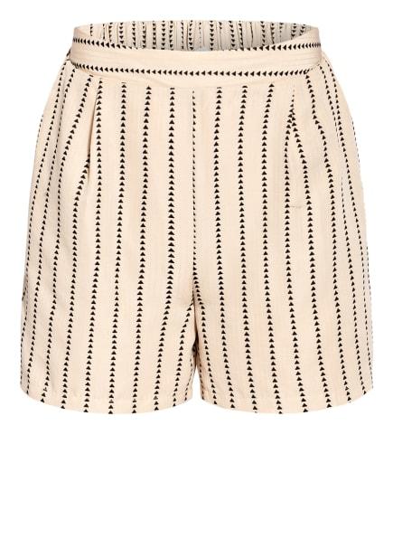 VILA Shorts, Farbe: BEIGE/ SCHWARZ (Bild 1)