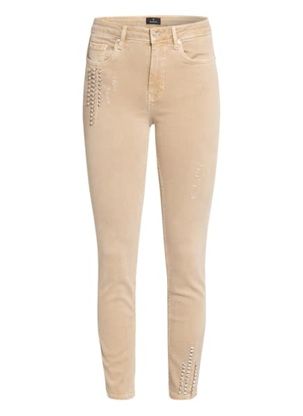 monari 7/8-Jeans mit Schmucksteinbesatz, Farbe: BEIGE (Bild 1)