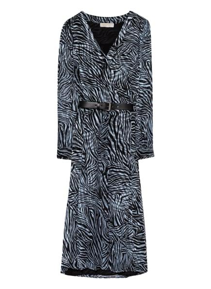 MICHAEL KORS Hemdblusenkleid mit Seide, Farbe: BLAUGRAU/ HELLBLAU/ SCHWARZ (Bild 1)