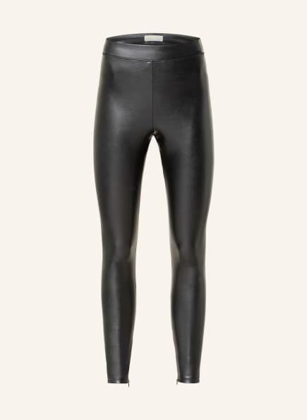 MICHAEL KORS Leggings in Lederoptik, Farbe: SCHWARZ (Bild 1)