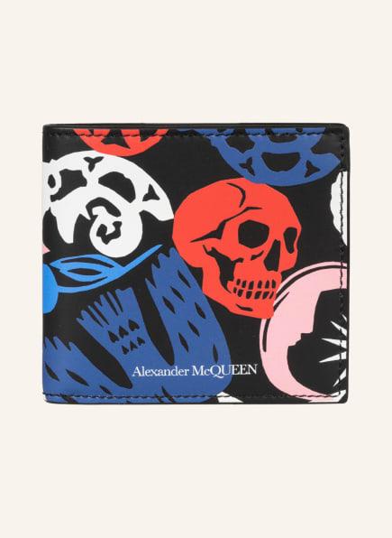 Alexander McQUEEN Geldbörse, Farbe: SCHWARZ/ BLAU/ ROT (Bild 1)