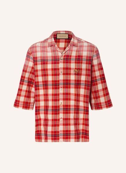 GUCCI Resorthemd Comfort Fit , Farbe: ROT/ CREME/ DUNKELBLAU (Bild 1)