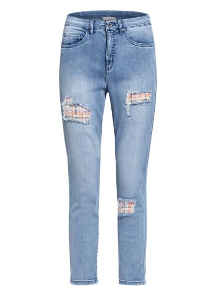 Joseph Ribkoff Destroyed Jeans mit Schmucksteinbesatz, Farbe: 593 HELLBLAU (Bild 1)