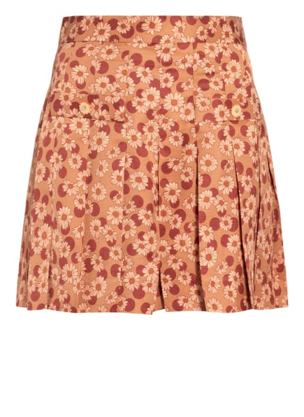 sandro Shorts mit Leinen, Farbe: LACHS/ HELLROT (Bild 1)