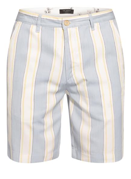 TED BAKER Chino-Shorts CALVIE Classic Fit, Farbe: HELLBLAU/ WEISS/ GELB (Bild 1)