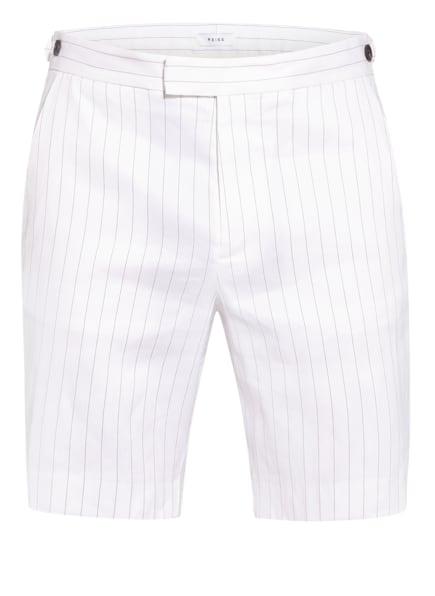 REISS Shorts LUCAS Slim Fit mit Leinen, Farbe: WEISS/ SCHWARZ (Bild 1)