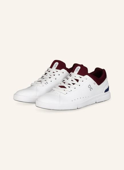 On Sneaker THE ROGER ADVANTAGE, Farbe: WEISS/ DUNKELROT (Bild 1)