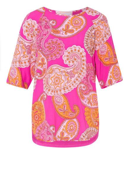 LIEBLINGSSTÜCK T-Shirt CALEN im Materialmix, Farbe: PINK/ ORANGE (Bild 1)