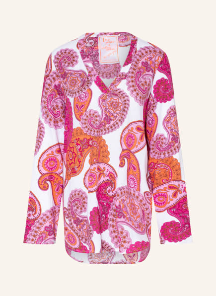 LIEBLINGSSTÜCK Blusenshirt mit Leinen, Farbe: WEISS/ PINK/ ORANGE (Bild 1)