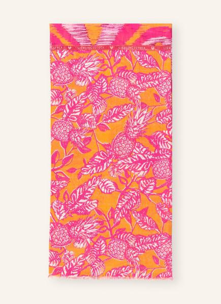 LIEBLINGSSTÜCK Schal MADELEINEL, Farbe: PINK/ ORANGE/ WEISS (Bild 1)
