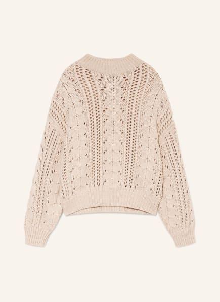 BRUNELLO CUCINELLI Cashmere-Pullover mit Paillettenbesatz, Farbe: BEIGE (Bild 1)