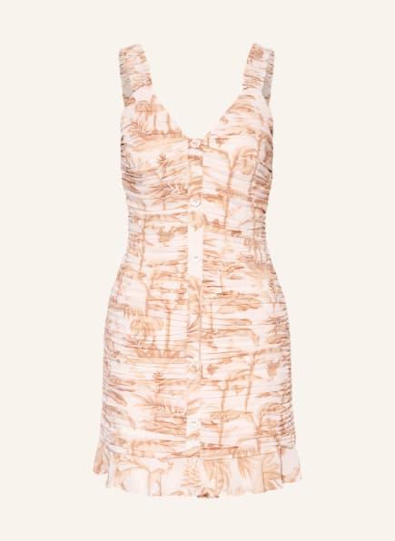 TED BAKER Kleid RROSIEE mit Volantbesatz, Farbe: HELLORANGE/ HELLBRAUN (Bild 1)