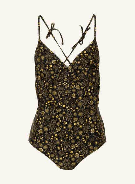sandro Badeanzug, Farbe: SCHWARZ/ GELB (Bild 1)