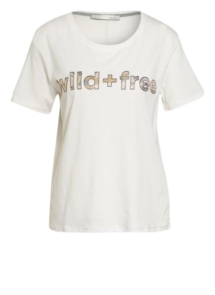 oui T-Shirt mit Schmucksteinbesatz, Farbe: WEISS (Bild 1)