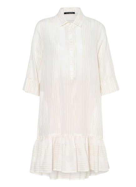 ana alcazar Kleid mit 3/4-Arm und Glitzergarn, Farbe: CREME/ GOLD (Bild 1)