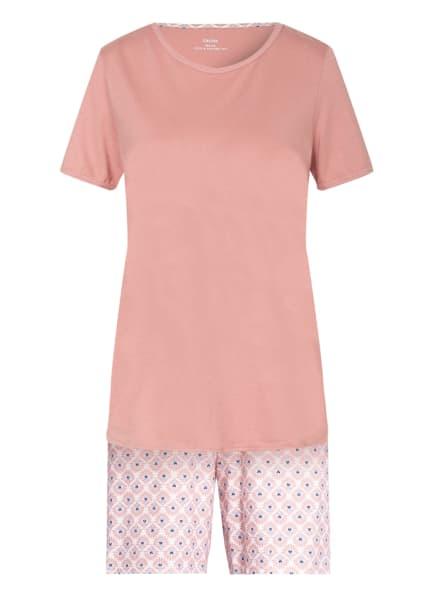CALIDA Shorty-Schlafanzug LOVELY NIGHTS, Farbe: WEISS/ ROSÉ/ HELLBLAU (Bild 1)