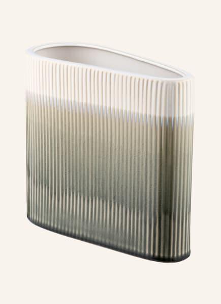 present time Vase TRIANGLE , Farbe: OLIV/ CREME/ HELLORANGE (Bild 1)