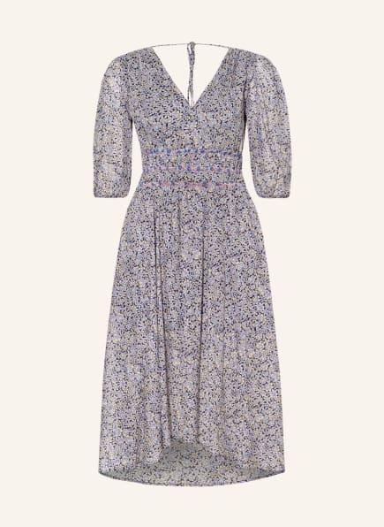 maje Kleid RILOTA mit 3/4-Arm, Farbe: DUNKELBLAU/ HELLBLAU/ HELLGELB (Bild 1)
