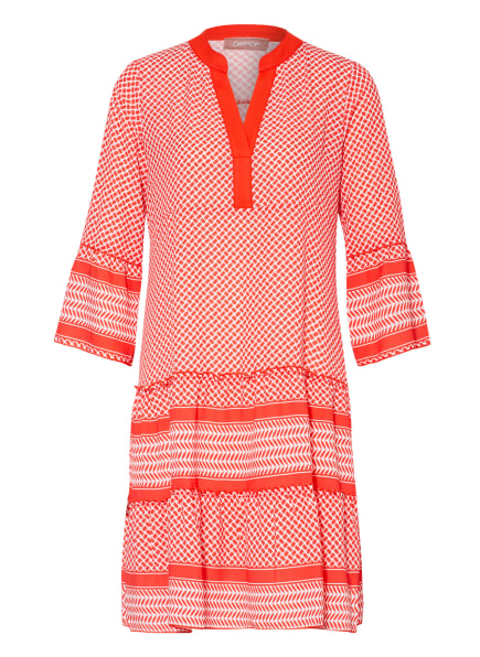 CARTOON Kleid mit 3/4-Arm, Farbe: WEISS/ HELLROT (Bild 1)
